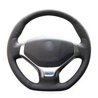 Couvercle de volant de voiture en cuir artificiel noir pour 3008 2013 2014 20201