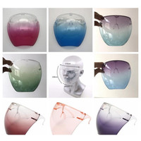 Plastic Safety Faceshield With Glasses Frame Transparent Full Face Cover Protective Mask Anti-fog Face Shield C JllAhB Lajiaoyard Jgada