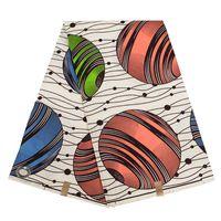 Fondo blanco cremoso fondo africano patrón estrella de estrella ankara paño de poliéster para coser cera impresión hecho a mano material de bricolaje