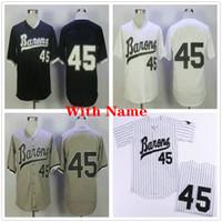 Michael # 45 Birmingham Barons Jerseys de béisbol Hombre Negro Blanco Gris Película cosida Michael Birmingham Barons Retro Béisbol Camisa Uniforme