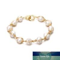 Оригинальный ручной работы 14K Gold Baroque натуральные пресноводные жемчужные женские женские браслеты продвижение ювелирных изделий для женщин подарок на день рождения