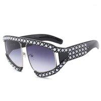 النظارات الشمسية dressuup النساء نظارات فضفاضة البلاستيك إطار الشمس الزجاج للنساء 1