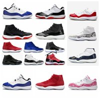 25th Anniversary  jordon 11 1s 11s Concord Bred HIGH Space Jam Mens Womens Basketball Shoes Cap Gown Gamma Blue Jumpman 23 Sneakers Trainers 6ad55