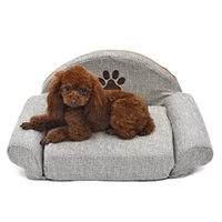 ПЭТ-кровати для собак для собак Кошка PET мягкие питомники милые лапы дизайн щенок теплый диван серый съемный собака кошачий дом зима для домашних животных LJ201028