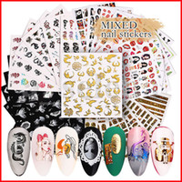 Multi Styles 3D Nail Art Sticker Hollow Decals Mixed Flower ...