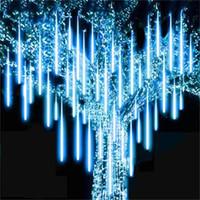 2021 Watwerproof 30 cm 50 cm Kar yağışı LED Şerit Işık Noel Meteor Duş Yağmur Tüp Işık Dize AC100-240 V Xmas Parti Düğün Için