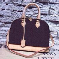 Womens Handtasche Alma Bb Shell Bag Top Griff Nette Tasche Damier Ebene Crossbody Bag Patentleder Hohe Qualität und Mode