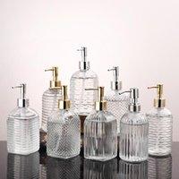 400ml Clear Pump Pump Bottle Black Glass Mano Sanitizer Bottle Cosmetic Lotion Sub-Bottle Push-on Doccia Gel Shampoo Bottiglie di stoccaggio XD24253