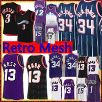 Ретро Стив 13 Nash Abdul Mens Olajuwon Jersey John 12 Stockton KARL 32 Malone Баскетбол Майкос Аллен 3 Иверсон Винс 15 Картер Джерси