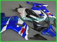 Custom Blue White AE01 Kit de justo para Suzuki GSXR 600 750 K1 2001 2002 2003 GSXR600 GSXR750 01 02 03 Motocicleta Fairings Kit