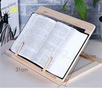 Book Stand Holder Titular de madera portátil ajustable Portátil Portátil Tableta Estudio Cocinero Receta Libros Soportes Escritorio Cajón Organizadores CYF4581