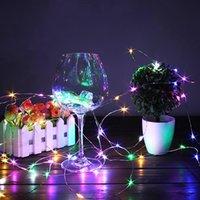 2m 20 LED 미니 병 마개 램프 문자열 막대 장식 문자열 조명 다채로운 빛 지구 색상 전체 고품질 소재 LED 문자열