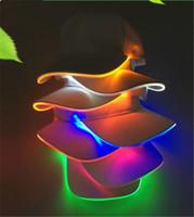 LED 야구 모자면 검은 흰색 빛나는 빛 공 모자 빛나는 파티 모자에 빛나는 빛 공 모자 빛나는 파티 모자