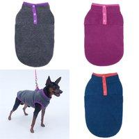 Pull Pullover de chien Sans manches Couche d'équipage Tactic Pet Snap Bouton Bouton Vest Easy Wear Poodle Vêtements Hiver épaississement 6 7ly G2