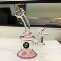 Mini pipa de agua rosa pipe DAB Rig Small Bubbler Hookahs Bongs con banger de cuarzo o bol de vidrio