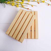 اليدوية الخشب الصابون حامل الصنوبر الصابون صينية الحمام الصابون الأطباق مع الأخدود متعدد الوظائف المطبخ أداة تخزين GWA3015