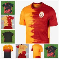 20 21 Galatasaray Falcao Soccer Jerseys 2020 2021 Gomis Linnes Cigerci BELHANDA Fernando FEGhouli Donk Custom Home Orange Football Hemden