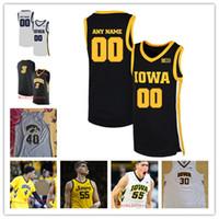 Özel Iowa Hawkeyes Basketbol Jersey BJ. Armstrong Ronnie Lester Roy Mermer Fred Brown Don Nelson Chris Street Aaron White Iowa Jersey