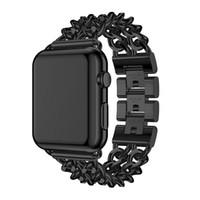 Paslanmaz Çelik Bağlantı Bilezik Kordon Saati Apple Watch Band Için 42 38 40 44 mm IWatch Bantları için Metal Kordon Band 5/4/3/2/1 Bileklik Band