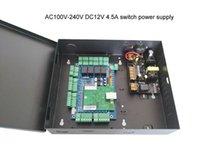 Panneau de commande d'accès à la porte TCP / IP à quatre voies avec boîte d'alimentation avec batterie AC110V / 220V Support Wiegand Reader SN: L04_SET