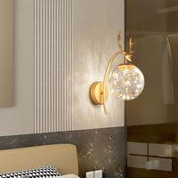 Lámpara de pared LED moderno LED Nórdico Iluminación de iluminación de iluminación de vidrio Bola de vidrio Spinces Viviendo dormitorio para niños Drop Drink Decoration Light