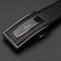 CIARTUAR أحزمة الإبزيم التلقائي للرجال جلد طبيعي الخصر رجل تسمية مصمم حزام جودة عالية الأزياء حزام