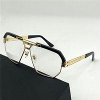Yeni Moda Poligonal Metal Çerçeve Optik Gözlük 9082 Basit ve Cömert Stil Alman Tasarım Adam En Kaliteli Gözlük Şeffaf Lens