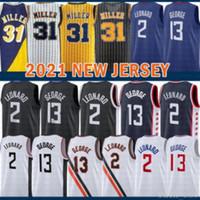 2021 New Kawhi Basketball Jersey 2 Leonard Mens Paul 13 George Mesh Retro Reggie 31 Miller Victor 4 Oladipo Multi