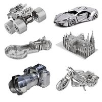 Церковь мотоцикл грузовик 3D металлические головоломки модельные наборы DIY лазерный нарезка Собрать головоломки игрушечный декольный подарок для аудита детей Y200421