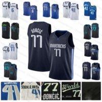 Mens 77 Doncic Jersey 41 Nowitzki Gençlik Kristaps 6 Porzingis Vintage Basketbol Formaları S-XXL