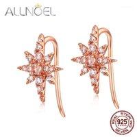 AllNoel 925 Brincos de prata esterlina para mulheres Pedra Topaz Gem Brincos de diamante Noivado Casamento Jóias Fine New1