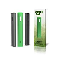 Barra verde autêntica Kit Dispositivo descartável 280mAh Bateria 1.0ml POD POD VAZ VAKE PENSA Vaporizadores de óleo grosso genuíno