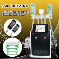 2 Maniglia Cryo Fat Bloc free Blocco portatile Cryolipolysis Machine 7 in 1 Mini 360 Cryo Perdita di peso Cavitazione RF Lipolaser Fat Freezing Machine