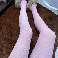 클래식 편지 메쉬 팬티 스타킹 여성 실크 레깅스 섹시한 여자 양말 레이스 메쉬 중공 밖으로 스타킹 레깅스 도매