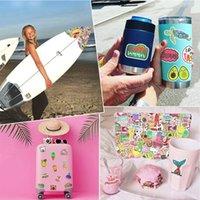 قطع ماء الشاطئ نمط الفينيل ملصقات ل 50 زجاجة المياه محمول macbook الكمبيوتر الوسادة الهاتف في سن المراهقة الفتيات diy هدايا لطيف