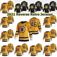 Boston Bruins 2021 Ters Retro Hokey Formaları Erkek David Backes Jersey Charlie Mcavoy Cam Neely Matt Grzelcyk Par Lindholm Özel Dikişli
