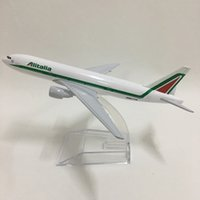 Jason Tutu 16cm Alitalia Boeing 777 비행기 모델 비행기 모델 비행기 항공기 모델 1 : 400 다이 캐스트 금속 비행기 장난감 LJ200930