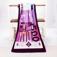 500 euros diseño arena playa toalla de playa toalla de baño secado toallo sweer traje de baño ducha suministro de protección de verano 70x140cm 201217