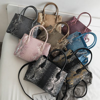 HBP Factory wholesale women handbag new serpentine portable shoulder bag large capacity contrast leather messenger bag's fashion crocodile
