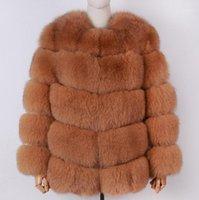 Pelliccia femminile Faux Yoloagain inverno inverno caldo spessore donna reale giacca da donna cappotto naturale1