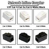 50 Parça Bilgisayar Kabloları için Ağ Inline Coupler Konnektör Cat 6 / 5E / 3 Beyaz Siyah Renk Fluke Geçti