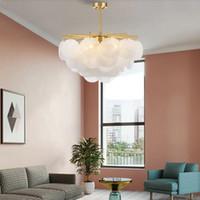 Moderne LED-Kronleuchter Luxus Beleuchtungsvorrichtungen Frosted Bubbles Glas Baum Zweig Kronleuchter Wohnzimmer Restaurant Dekoration