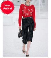 2021 Nouvelle automne Luxe Femmes Ronde Ronde Ronde Mélanger Pull tricoté Pull à manches longues Poignée Solide Perles Casual Knitwear