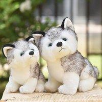 20-30cm Niedlichen Husky Hunde-Plüsch-Spielzeug Wolf Weiches Stofftier Nette Plüsch Kawaii Kinder Puppe Flauschiges Geburtstagsgeschenk Kind Junge WJ131 C0119