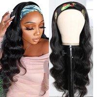Bandeau réglable Cheveux humains pour femmes Vague corporelle 150% Densité Indian Remy Cheveux humains San Wigs non dentelle