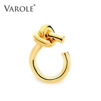 VAROLE Big Knot Ring Gold Color Minimalist Rings For Women Fashion Jewelry Party Anillos Gifts
