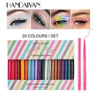 Handiyan 20 colori glitter diamante opaco eyeliner gel colorato eyeliner colorato eyeliner occhi cosmetici marrone occhio fodera penna trucco paneliner