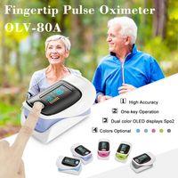 CE FDA certificou oxímetro de clipe com o melhor oxímetro de pulso de ponta com tela OLED de duas cores
