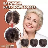 Seamless Hair Topper Clip Silky Clip- On Hair Topper Human Wi...