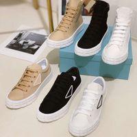 Nuevos amantes Color Sólido Casual Lienzo Zapatos de lona alta y baja Top Zapatos de calidad superior con caja